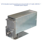 "GF-50 double stack forward/reverse boxed with 1/2"" shaft. 240V AC. * Available upon request"