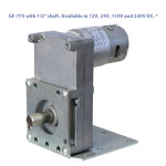 "GF-775 with 1/2"" shaft. Available in 12V, 24V, 110V and 220V DC. *"