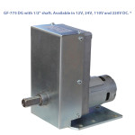 "GF-775 DG with 1/2"" shaft. Available in 12V, 24V, 110V and 220V DC. *"