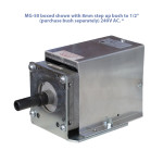 """MG-50 boxed shown with 8mm step up bush to 1/2"""" (purchase bush separately) 240V AC. *"""